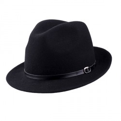 Černý pánský klobouk Assante 85041