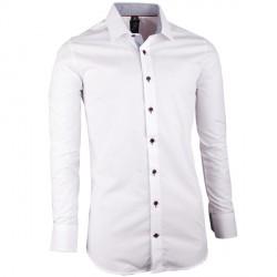 Bílá pánská košile slim fit Brighton 109942