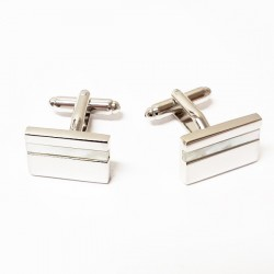 Manžetové knoflíčky s perletí stříbrné Assante 90502