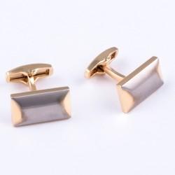 Manžetové knoflíčky zlatostříbrné Assante 90531