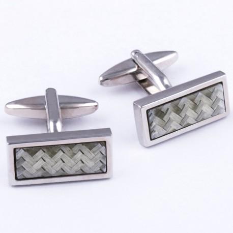 Manžetové knoflíčky stříbrné barvy Assante 90532