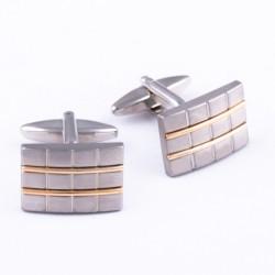 Manžetové knoflíčky zlatostříbrné Assante 90534