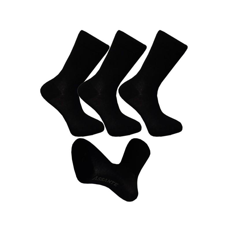 Multipack ponožky 3 páry bambusové černé pánské Assante 791 33373f7eab
