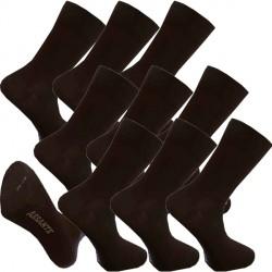 Multipack ponožky 9 párů bambusové černé pánské Assante 793