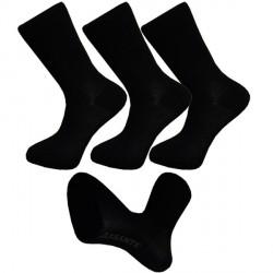 Multipack ponožky 3 páry bavlněné černé pánské Assante 701
