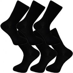 Multipack ponožky 6 párů černé antibakteriální se stříbrem Assante 711