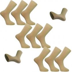 Multipack ponožky 9 párů béžové antibakteriální se stříbrem Assante 730