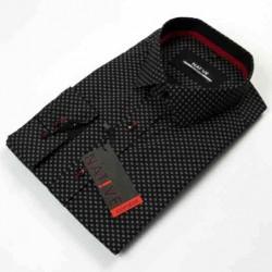 Černá pánská košile dlouhý rukáv vypasovaný střih Native 120506