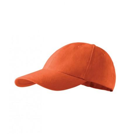 Oranžová baseballová kšiltovka 100 % bavlna Adler 81173