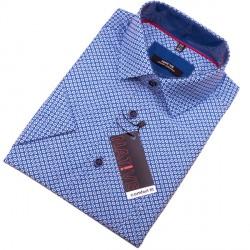 Modrá pánská košile s krátkým rukávem Native 120309