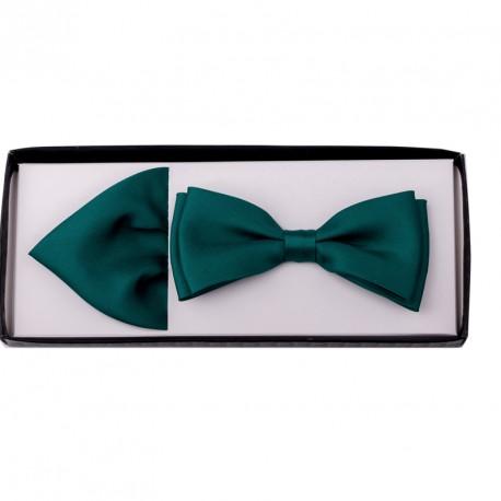 Smaragdový motýlek s kapesníčkem Assante 90223