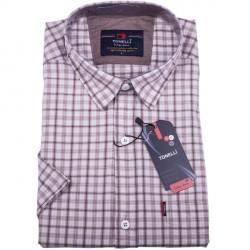 Béžová pánské košile krátký rukáv Tonelli 110808