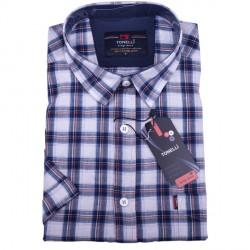 Nadměrná modrá košile 100 % bavlna Tonelli110814