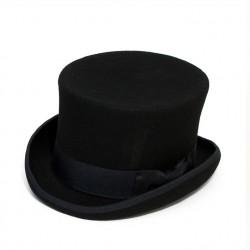 8e5e70202b6 Černý cylindr anglický pánský klobouk 100 % vlna Mes 85019