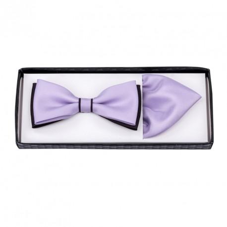 Lila fialový motýlek s kapesníčkem Assante 90285