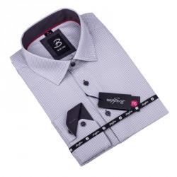Modrobílá pánská košile slim fit Brighton 109903