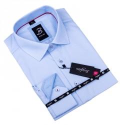 Šedobílá pánská košile slim fit Brighton 109904