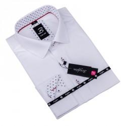 Bílá pánská košile slim fit Brighton 109907