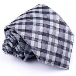 Šedá kravata pánská Greg 91004