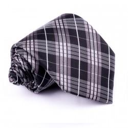 Pánská šedá kravata klasická společenská Rene Chagal 91033
