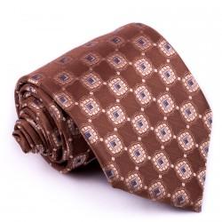 Hnědá pánská kravaty Greg 92907