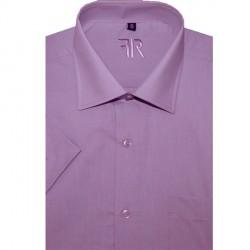 Fialová pánská košile s krátkým rukávem rovná Friends and Rebels 40304