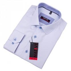 Modrá pánská košile vypasovaný střih Native 120010