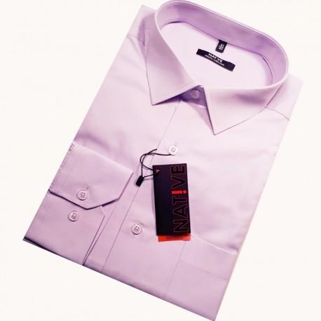 Hnědá pánská košile s dlouhým rukávem rovná Friends and Rebels 30318