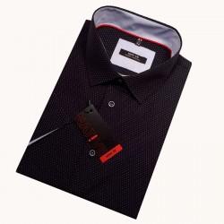 Šedá pánská košile s krátkým rukávem rovná Friends and Rebels 40102