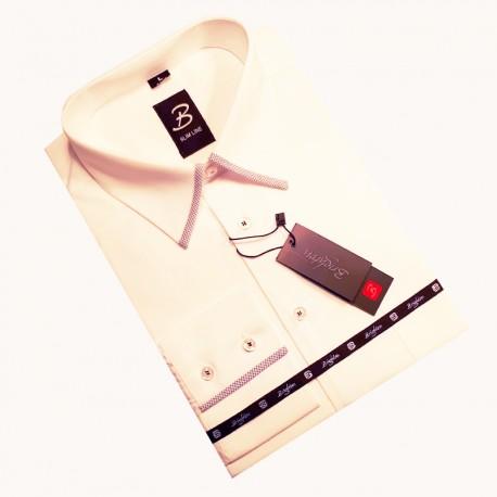 Bílá pánská košile nadměrná velikost dlouhý rukáv Brighton 110089
