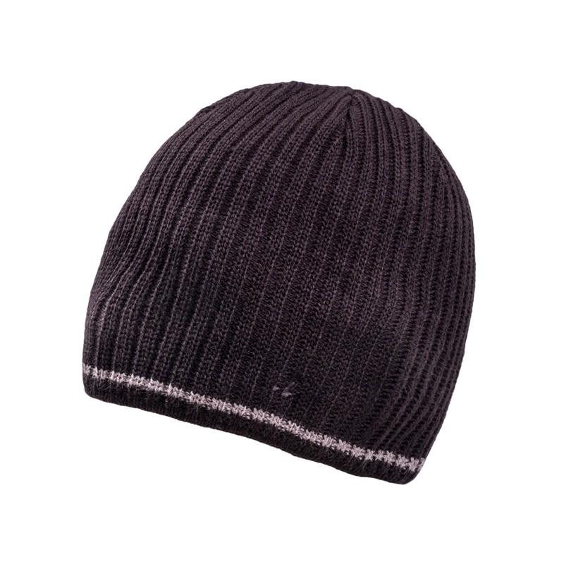 900be5949 Černá pletená pánská čepice Assante 86003