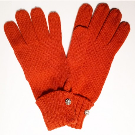 Oranžové pletené dámské rukavice Assante 89752