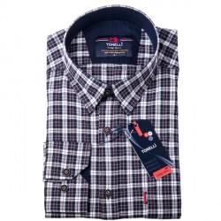 Bíločerná košile 100 % bavlna Tonelli 110954