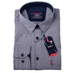 Černobílá nadměr košile 100 % bavlna Tonelli 110958