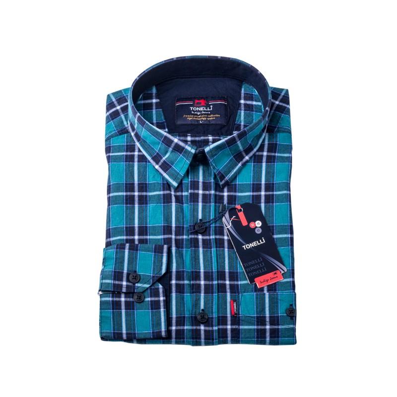 Modrá košile 100 % bavlna Tonelli 110964 ... 9447fdbe23