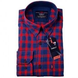 Červenomodrá káro košile 100 % bavlna Tonelli 110967