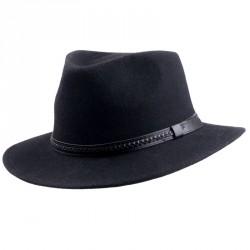 Luxusní pánský klobouk černý MES 05026