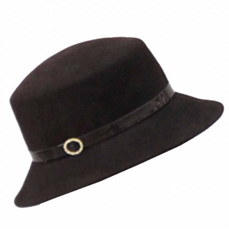 Hnědý elegantní dámský klobouk Anytra 87048