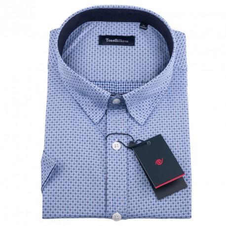 Bílomodrá košile Tonelli 110840