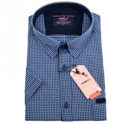 Modročerná nadměrná košile Tonelli 110842
