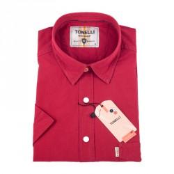 Cihlově červená košile Tonelli 110856