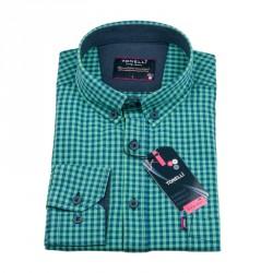 Zelenomodrá kostičkovaná košile Tonelli 110979