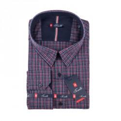 Šedočervená košile Tonelli 110996