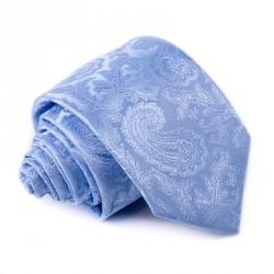 Světle modrá ornamentální kravata Greg 94955