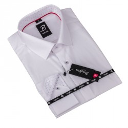 Košile Brighton bílá proužek 110001
