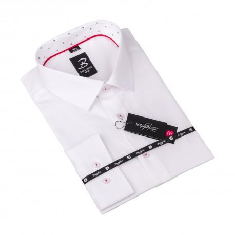 Košile Brighton bílá s texturou 110095