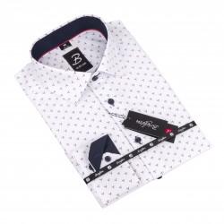 Košile Brighton bílá s geometrickým vzorem 110098