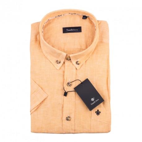 Pánská košile oranžová krátký rukáv Tonelli 110867