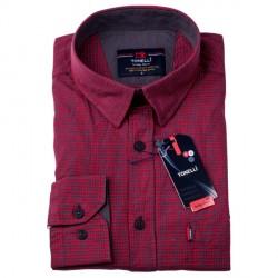 Pánská košile červená dlouhý rukáv Tonelli 110923