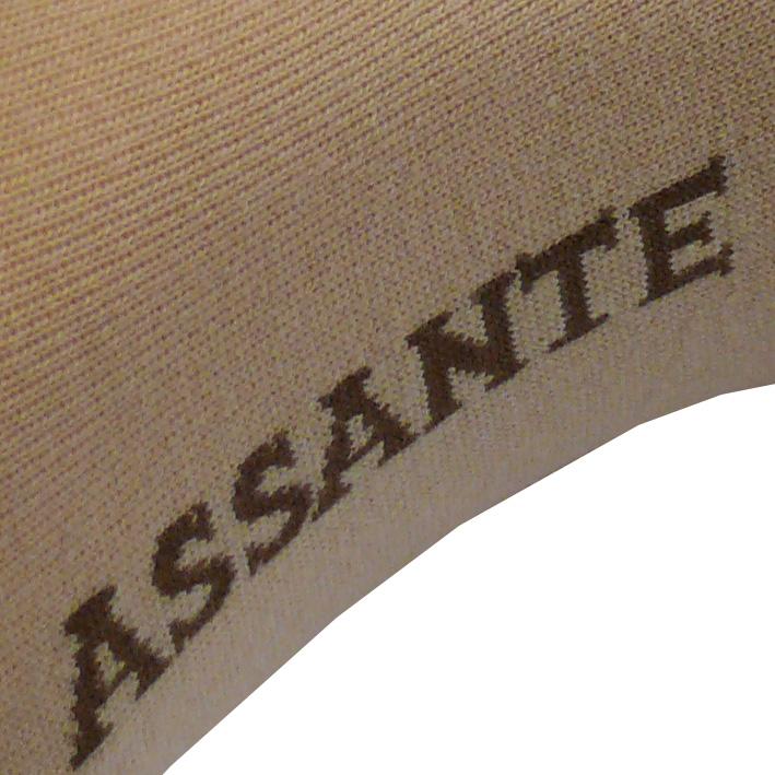 Detail světlé ponožky Assante